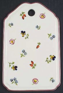 Villeroy & Boch Petite Fleur Cheese and Cracker Board, Fine China Dinnerware   S