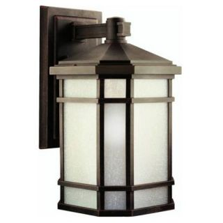 Kichler 9720PR Outdoor Light, Arts and Crafts/Mission Wall Mount 1 Light Fixture Prairie Rock