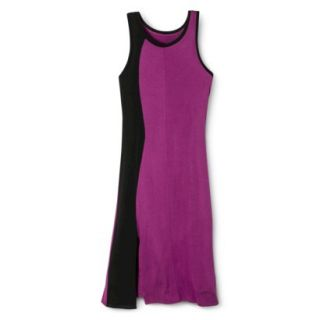 Mossimo Womens Colorblock Midi Dress   Grape/Black S