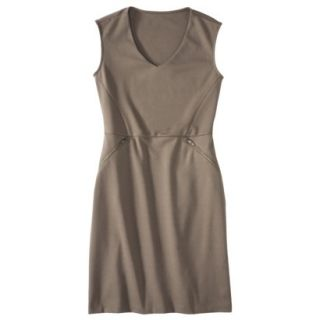 Mossimo Womens Ponte Sleeveless Dress w/ Zippered Pockets   Timber XS