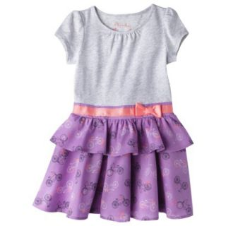 Cherokee Infant Toddler Girls Convertible Dress   Grey 5T