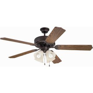Ellington Fans ELF E204ABZ Pro 204 52 Ceiling Fan Motor only with Integrated Li
