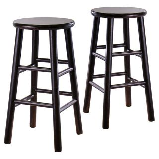 Winsome Wood 29 Inch Bar Stool   Espresso   Set of 2 Dark Brown   92780