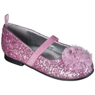 Toddler Girls Genuine Kids from OshKosh Glitter Ballet Flats   Pink 6
