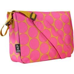 Wildkin Kickstart Messenger Bag Big Dots Hot Pink