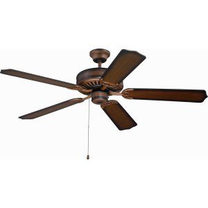 Ellington Fans ELF E52BCW Pro 52 Ceiling Fan Motor only with Optional Light Kit