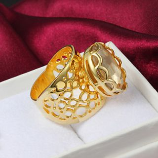 High Quality Amazing Gold Plated Clear Cubic Zirconia Oval Womens Ring