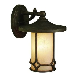 Kichler 9365AGZ Outdoor Light, Arts and Crafts/Mission Wall 1 Light Fixture Aged Bronze