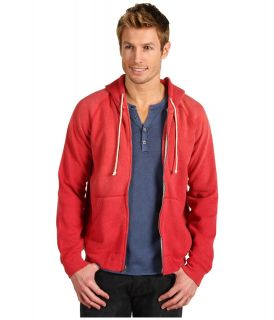 Lucky Brand Full Zip Hoodie Mens Sweatshirt (Red)