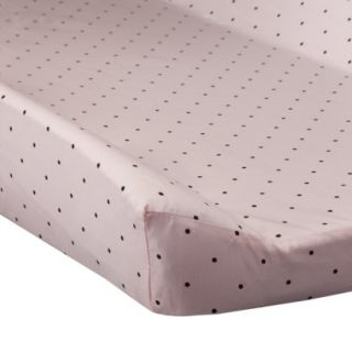 Pink & Chocolate Polka Dots Changing Cover