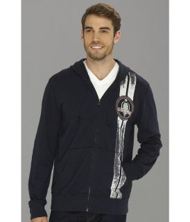 Lucky Brand Cobra Stripe Mens Sweatshirt (Navy)
