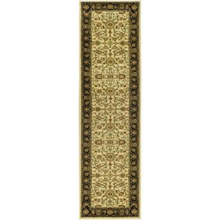 Lyndhurst Collection Majestic Ivory/ Black Rug (23 X 18)