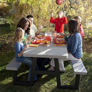 Lifetime Products 6 ft. W Frame Folding Picnic Table Multicolor   60030