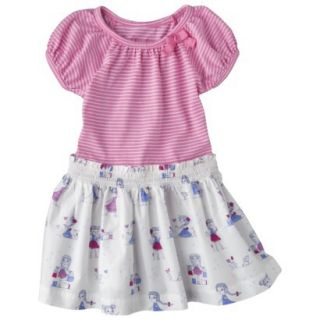 Cherokee Infant Toddler Girls Short Sleeve Dress   Strawberry Shake 12 M