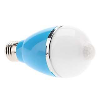 Infrared Sensor E27 5W 450 500LM 6000 6500K Natural White Light Colorful Shell LED Ball Bulb (110 240V, Assorted Colors)