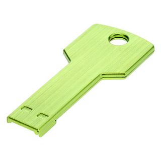 Key Shaped Metal USB Flash Drives 16G(Green)