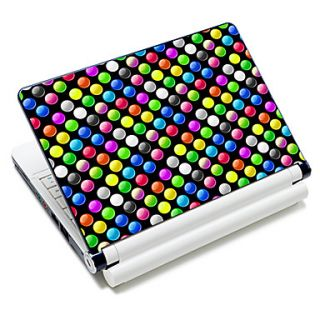 Colorful Round Dot Pattern Laptop Notebook Cover Protective Skin Sticker For 10/15 Laptop 18669