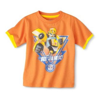Transformers Bumblebee Infant Toddler Boys Short Sleeve Tee   Orange 5T