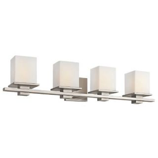Kichler 45152AP Bathroom Light, Transitional Bath 4Light Fixture Antique Pewter