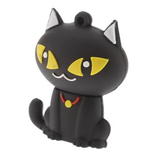 8G Cute Cat USB Flash Drive Black/White
