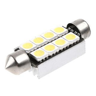 41mm 8 5050 SMD LED White Car Interior Dome Festoon Reading Light Lamp Bulb Decode