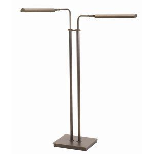 House of Troy HOU G300 2 CHB Generation Adjustable Double Floor LED Lamp Chestnu