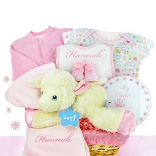 Cashmere Bunny Personalized Lamby Nap Time Gift Basket Multicolor   LNT
