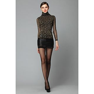 Womens Sexy Lace High Neck Bodycon Dress