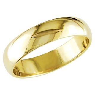 Mens 10K Yellow Gold Wedding Band   Size 10