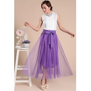 Womens Dream Color Organza Fabric Skirt