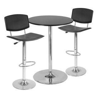 Winsome 3 Piece Pub Table Set with Curved Back Stool Multicolor   93340