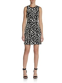 Patrick Leopard Print Dress   Black White