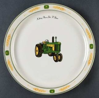 Gibson Designs John Deere Amber Waves (Rim) Dinner Plate, Fine China Dinnerware