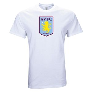 Euro 2012   Aston Villa Large Crest T Shirt (White)