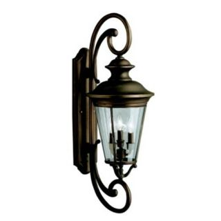 Kichler 9349OZ Outdoor Light, Classic (Formal Traditional) Wall 4 Light Fixture Olde Bronze