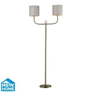 Dimond Lighting DMD HGTV257BR Universal Double Armed Floor Lamp