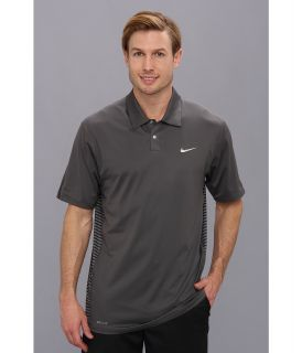 Nike Golf Tiger Woods Engineered Stripe Polo Mens Short Sleeve Knit (Black)