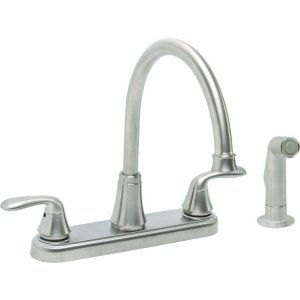 Premier Faucets 126968 Waterfront Lead Free Two Handle Kitchen Faucet with Spray
