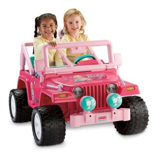 Fisher Price Power Wheels Barbie Jammin Jeep Battery Powered Riding Toy