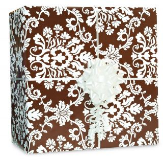 Chocolate Brown Brocade Gift Wrap Kit