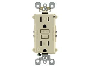 Leviton T7599KI Electrical Outlet, 15A TamperResistant, Commercial Grade SmartLock Pro GFCI Receptacle Ivory