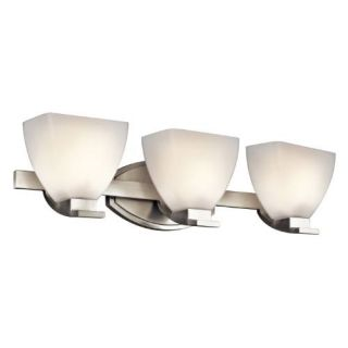 Kichler 45115NI Bathroom Light, Transitional Bath 3Light Fixture Brushed Nickel
