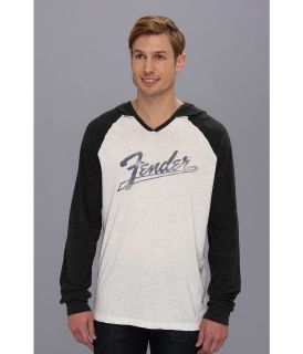 Lucky Brand Fender Baseball Mens Long Sleeve Pullover (White)