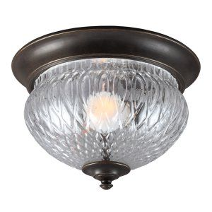 Sea Gull Lighting SEA 7826401BLE 780 Garfield Park One Light Outdoor Ceiling Flu
