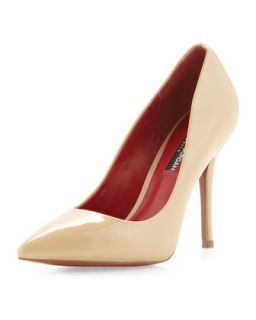 Hunter Patent Pointed Toe Pump, Champagne