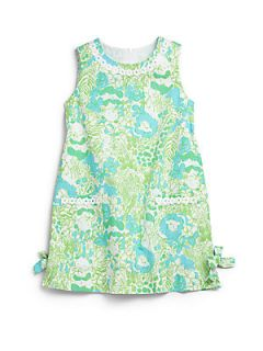 Lilly Pulitzer Kids Toddlers & Little Girls Lion Print Shift Dress   Limeade