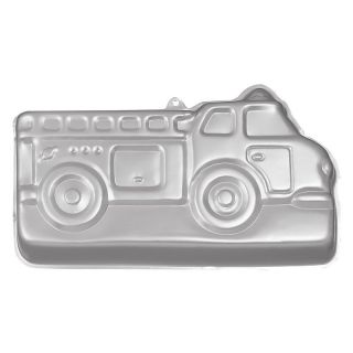 Wilton Aluminum Fire Truck Cake Pan Multicolor   2105 2061