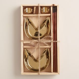 Gold Fortune Cookie 6 Piece Boxed Appetizer Set   World Market
