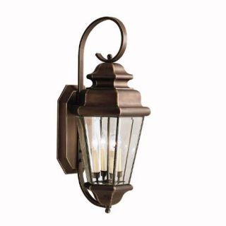 Kichler 9631OZ Outdoor Light, Transitional Wall 4 Light Fixture Olde Bronze