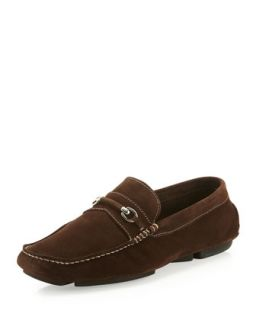 Pogia Suede Bit Driver, Dark Brown